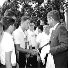 five decades ago bill clinton meets jfk nbc news