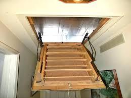 steel small opening attic ladder option install garage attic