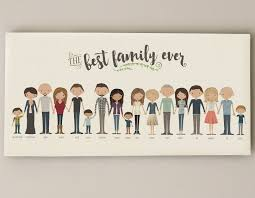 this listing is for a custom illustrated family portrait that is