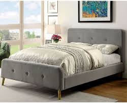 buy addo queen size bed with headboard grey online at best price