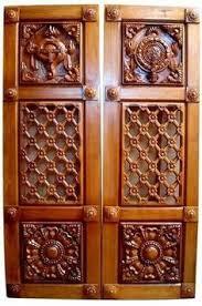 Pooja Room Door Carving Designs