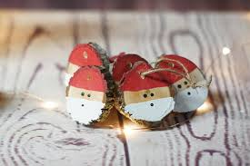 santa ornament set painted