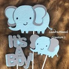 elephant centerpieces for baby shower elephant centerpieces stick elephant light blue and gray