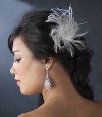 hair fascinator light ivory bridal feather hair fascinator clip 440 wit brooch pin