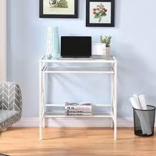 Small Desk White Glass Desks Computer Tables For Less Overstock