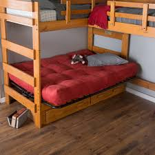 Futon Bunk Bed With Mattress Triple Loft With Futon