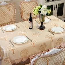 jacquard embroidered tree embossing silk satin dining tablecloth