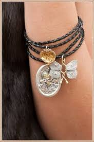 unique charm waxing poetic jewelry bracelet butterfly charms leather