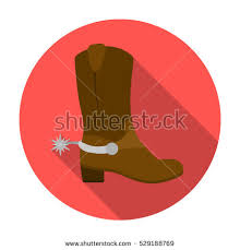 s boots style cowboy s boots icon style stock vector 560607211