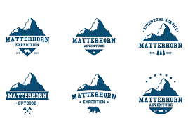 matterhorn adventure label download free vector art stock