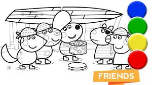 peppa pig and her awesome friends coloring book pages for baby