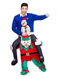 carry me mascot christmas elf fancy dress dress up party