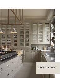 Gray Kitchen Cabinets Benjamin Moore by Benjamin Moore Edgecomb Gray Custom Kitchen Pinterest