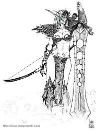night elf warrior sketch by transfuse on deviantart