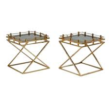 caign style side tables caign style side tables with glass inserts a pair caign