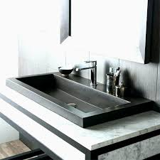 trough sink two faucets 37 new trough bathroom sink with two faucets jose style and design