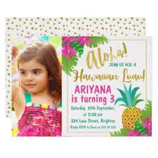 hawaiian birthday invitations u0026 announcements zazzle