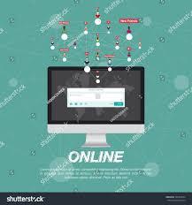 web application on computer icon social stock vector 562455694