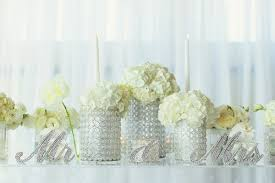 Beaded Vases A Bright U0026 Modern Summer Wedding With Mint Coral Details