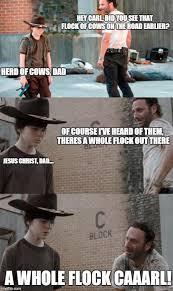 Hey Carl Meme - the walking dead 23 of the funniest rick carl dad jokes smosh