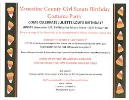 scouts birthday costume party muscatine community