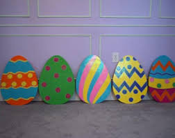 Giant Easter Egg Lawn Decorations by Easter Bunny Yard Art Signs Easter Basket Full Of Bunnies