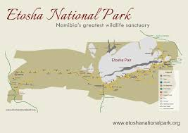 Photo Map Etosha Nationalpark Karte Map