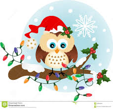 owl christmas christmas owl on branch stock vector illustration of