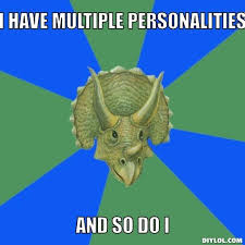Multiple Image Meme Generator - anti joke triceratops meme generator i have multiple personalities
