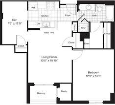 1 Bedroom Plus Den Meaning 1800 Oak Apartments In Rosslyn Arlington 1800 North Oak Street