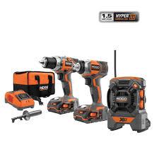 ridgid x4 18 volt hyper lithium ion cordless drill and impact