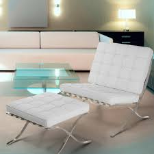 Accent Chair And Ottoman Set Pavilion White Leather Accent Chair U0026 Ottoman Set U2013 Nhmodern