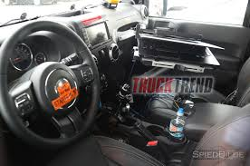 jeep africa interior jl wrangler mule spotted with manual transmission