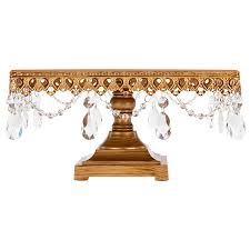 amazon com anastasia antique gold square cake stand with