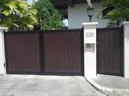 modern entrance gate wrought iron railings philippines glass