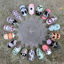 dahlia nails 18 fun halloween nail art ideas