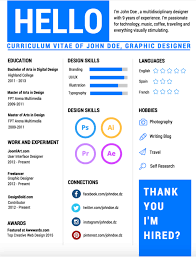 Infografic Resume Visualize Success With An Infographic Resume U2013 Designbold Blog