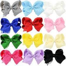 hair bow tie 12 pack baby big hair bows alligator princess dress