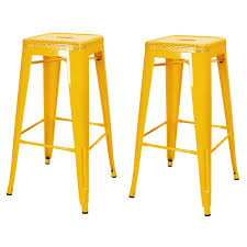30 Inch Bar Stool Joveco 30 Inch Drain Holes Style Metal Bar Stools Set Of 2