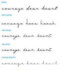 cursive tattoo variations quote be your own kind of beautiful