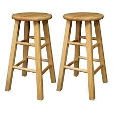 Bar Stool Sets Of 2 with Wood Backless Barstool Set Hardwood Natural Set Of 2 Winsome