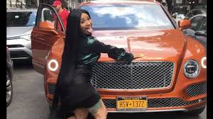 new bentley truck cardi b shows off her brand new bentley bentayga youtube
