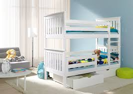 Bunk Bed With Mattress Outstanding Bunk Beds With Storage White Low Regard To Bed