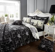 eiffel tower girls bedding vintage black white paris eiffel tower bedding full queen duvet