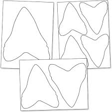 printable shark tooth from printabletreats com shapes and