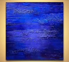 abstract painting blue textured abstract painting home decor art