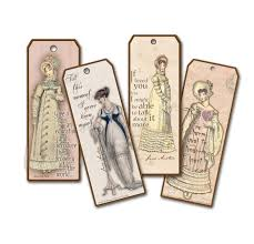 vintage style bookmarks jane austen quotes bookmarks pride and