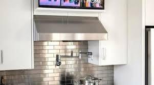 tv in kitchen ideas favorable counter kitchen tv contemporary ideas smart counter