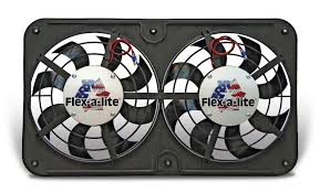 flex a lite electric fan kit flex a lite automotive dual 12 1 8 inch lo profile s blade electric fan