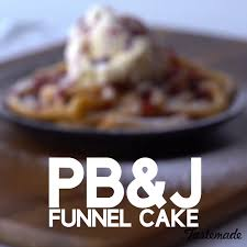 peanut butter and jelly funnel cakes recipe tastemade
